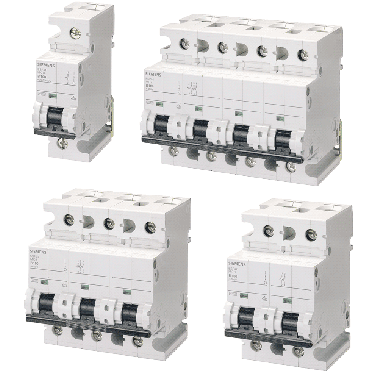Модульні автоматичні вимикачі Сіменс 5SP для значних номінальних струмів