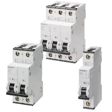 Модульні автоматичні вимикачі Сіменс 5SY для промислових застосувань з підвищеною вимикаючою здатністю при коротких замиканнях